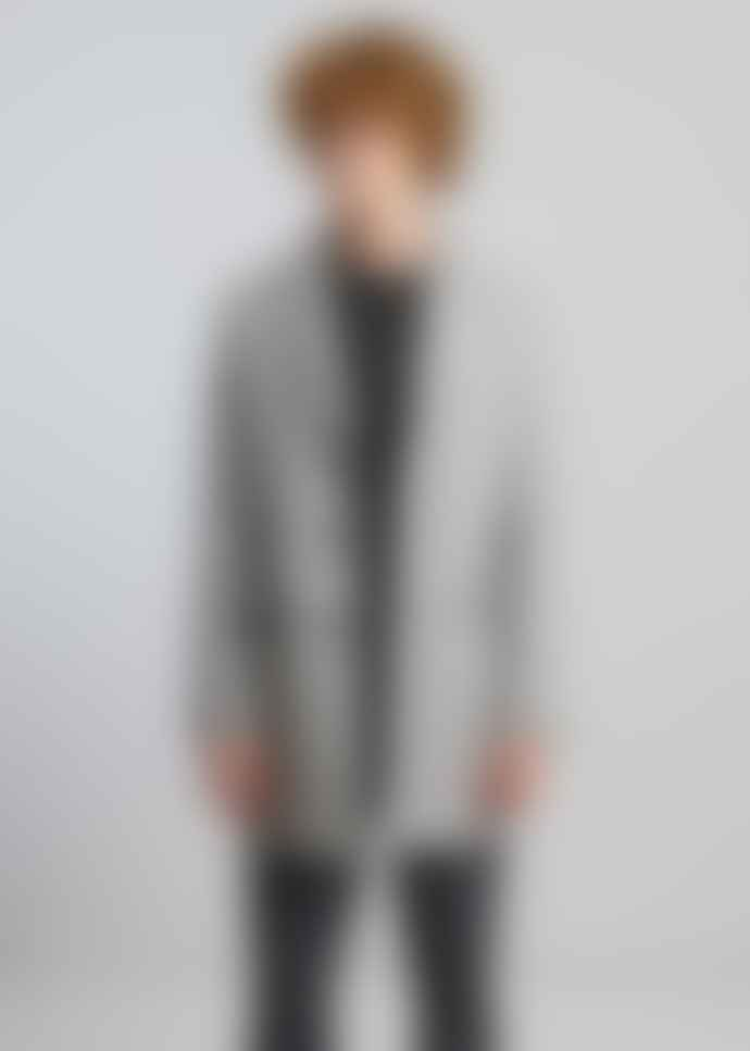 L'Exception Paris Light Grey Wool Overcoat