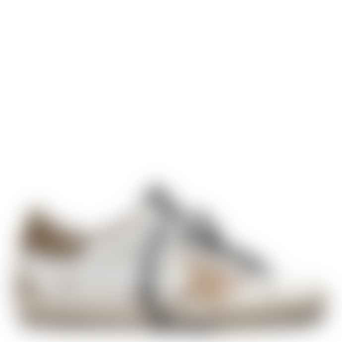 Golden Goose Deluxe Brand White with Gold Star Superstar Sneakers