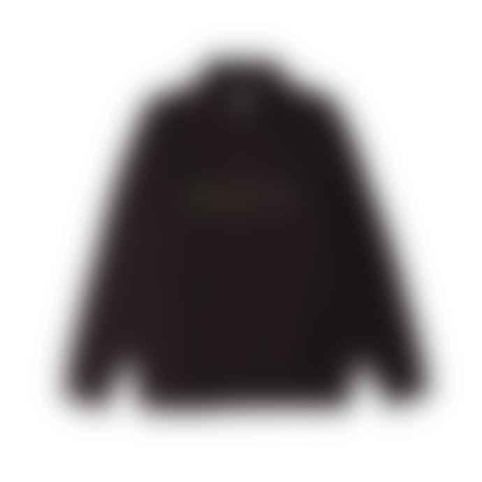 OBEY Lassen Mock Neck Zip Streetwear Black With Neon Yellow Logo