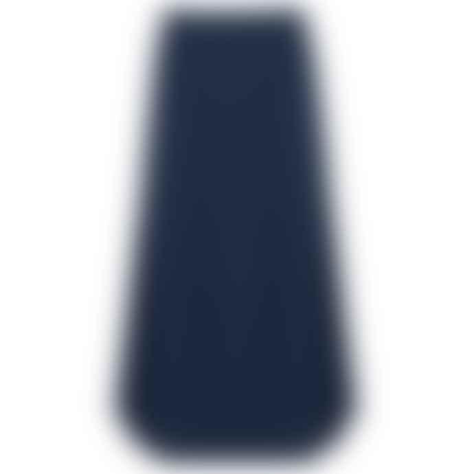 Vince Clothing Marine Blue Side Buckle Drape Skirt