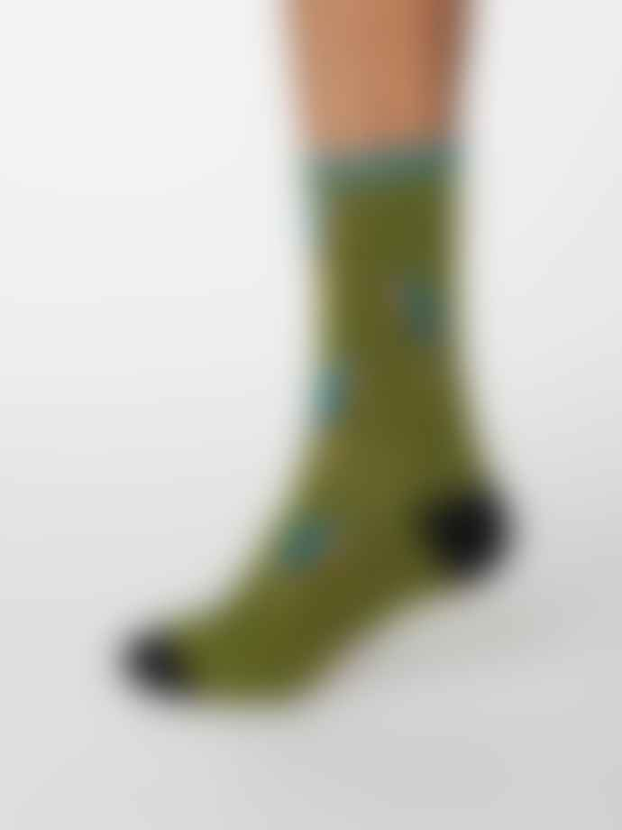 Thought Olive Green Bamboo Pappagallo Parrot Socks