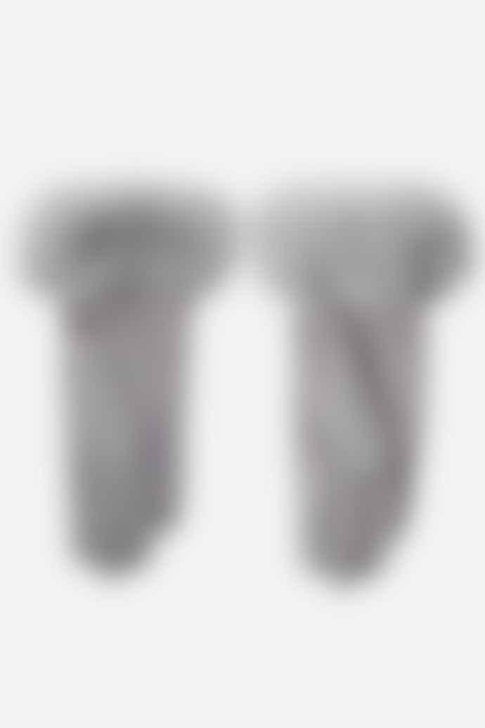 Medium Grey Gloves with Faux Fur Trim