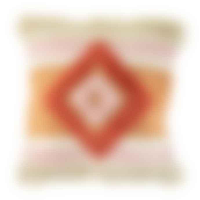 Sass & Belle  Orange Nevada Tufted Diamond Cushion