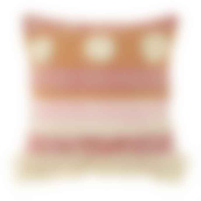 Sass & Belle  Orange Nevada Pink Woven Stripe Cushion