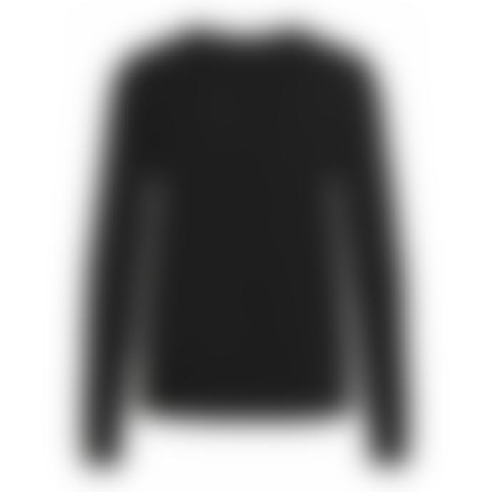 Vila Viril Round Neck Sweater Black