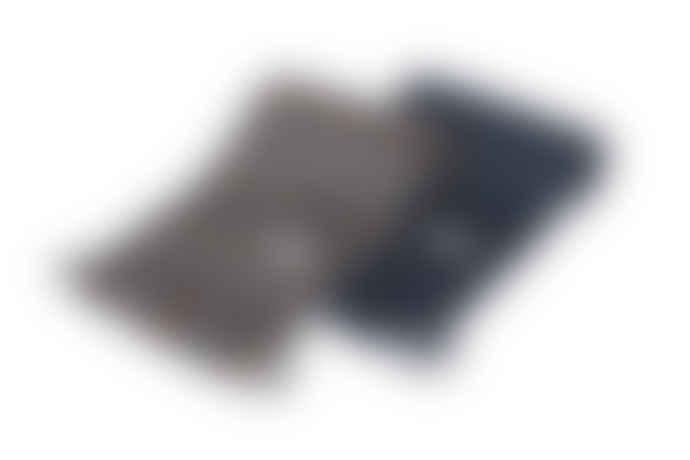 Les Deux Check Wool Scarf - Light Grey Melange/Rusty Brown