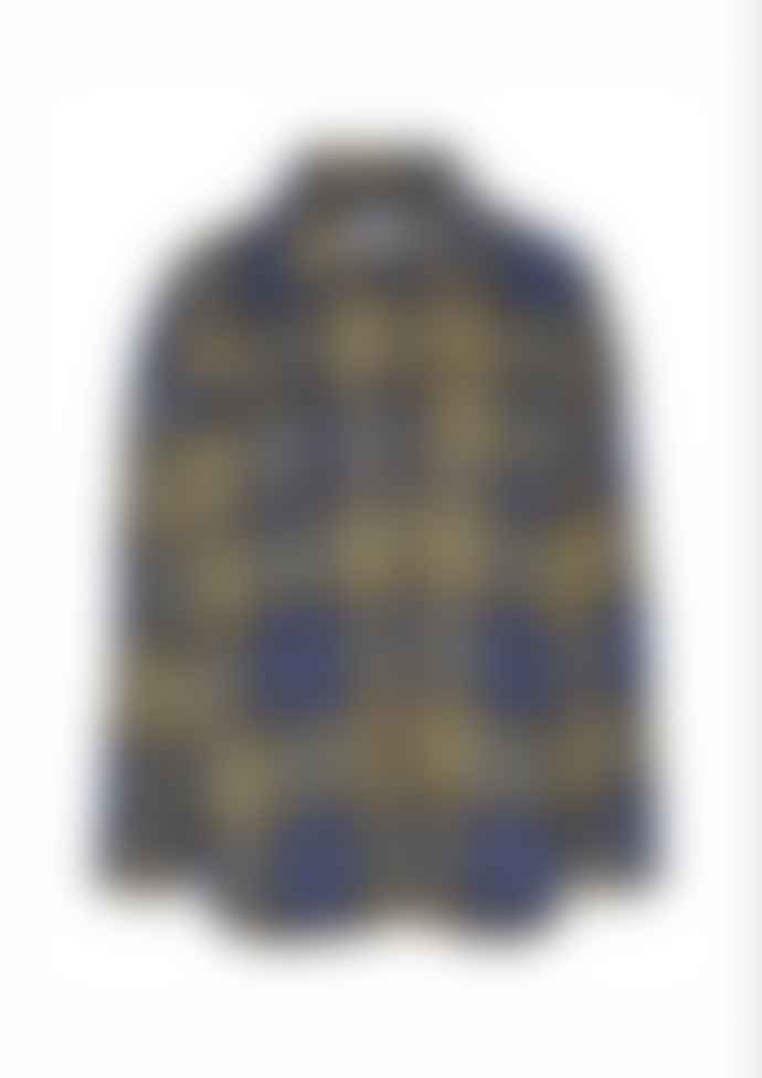 Noisy May Keith Trucker Jacket In Blue Vintage Check