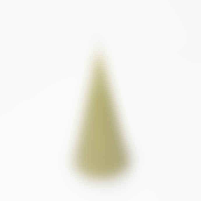 Honey Flamingo Cone Shape Candle in Olive