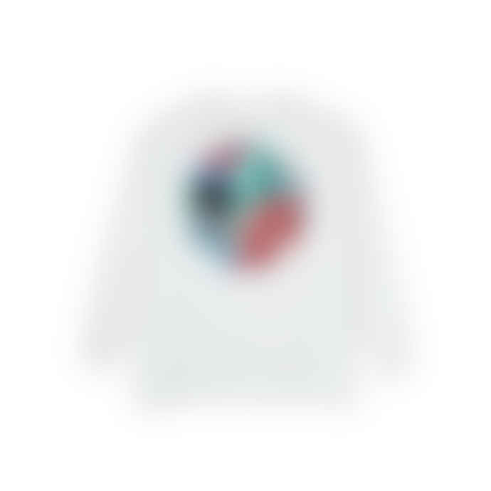 Polar White Cotton Moth House Fill Logo LS T Shirt
