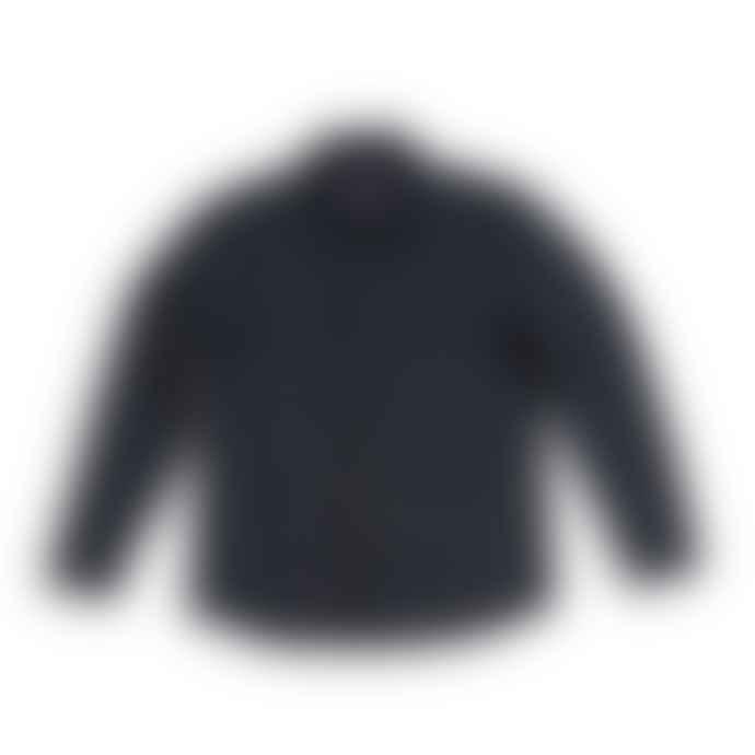 Blue de Genes Folignio Herringbone Overshirt Navy