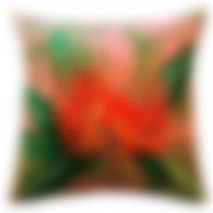 Vanilla Fly Cushion Cover Velvet Coral Nutans 50x50 LA50