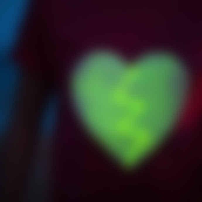 Little Mashers Glow In The Dark Interactive T-Shirt - Heart Design Grey Adult