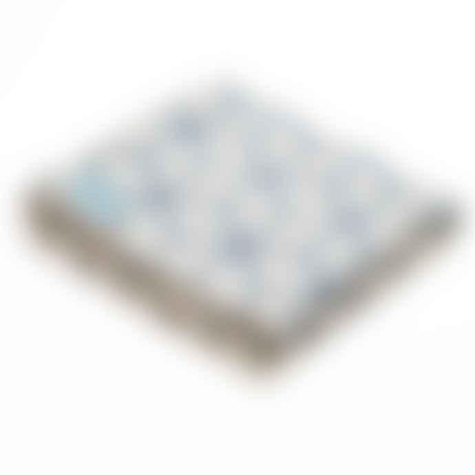 Atlantic Blankets Navy Geometric Blanket Large 160 X 200 cm