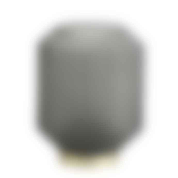 Light & Living Glass Led Lamp In Grey
