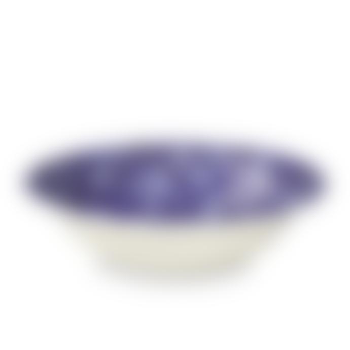 Burleigh Blue Calico Pudding / Soup Bowl 20.5cm