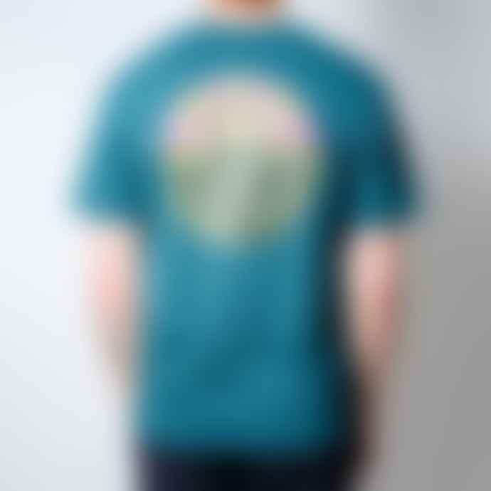 Hikerdelic Original Logo Ss T Shirt Bottle Green