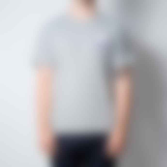 Hikerdelic Patch Print Logo Short Sleeve T Shirt Grey Marl