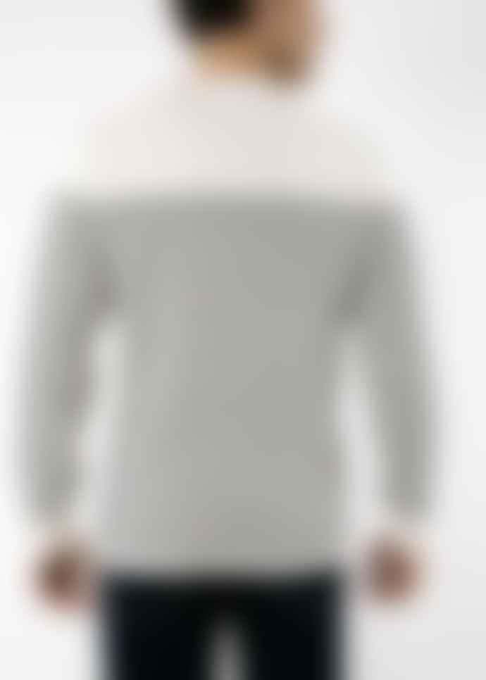 SAINT JAMES Galiote Sweater V R Ecume/Navy