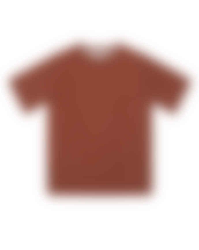 WEMOTO Maroon Bleu Lyocell T-Shirt