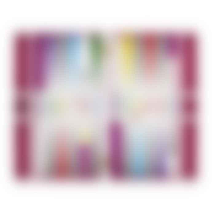 Jonathan Adler Checkerboard Backgammon Set Rainbow