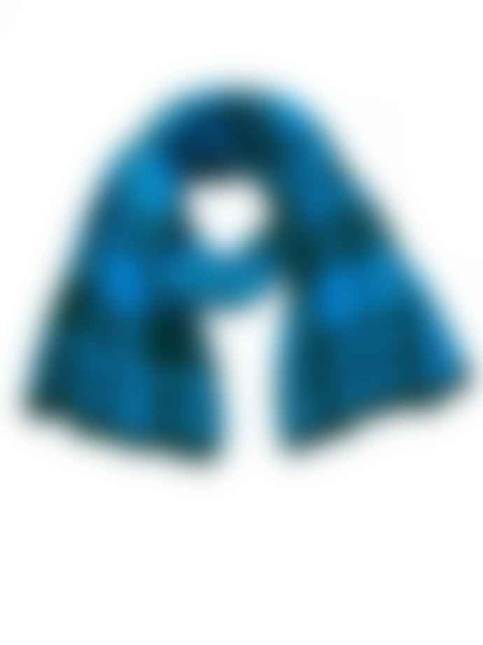 Markus Lupfer Check Jacquard Scarf Forest Green Azure