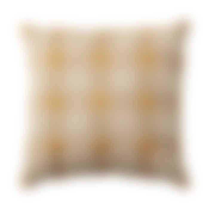 Bloomingville Yellow and Orange Cotton Cushion