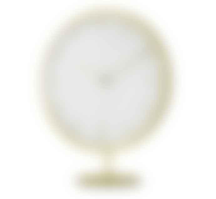 Umbra Infinity Clock in Matte Brass