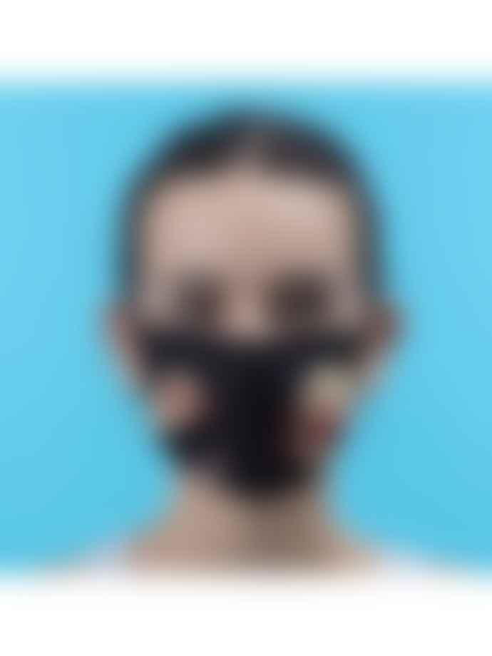 Seletti Lipsticks Black Microfibre Face Mask S M