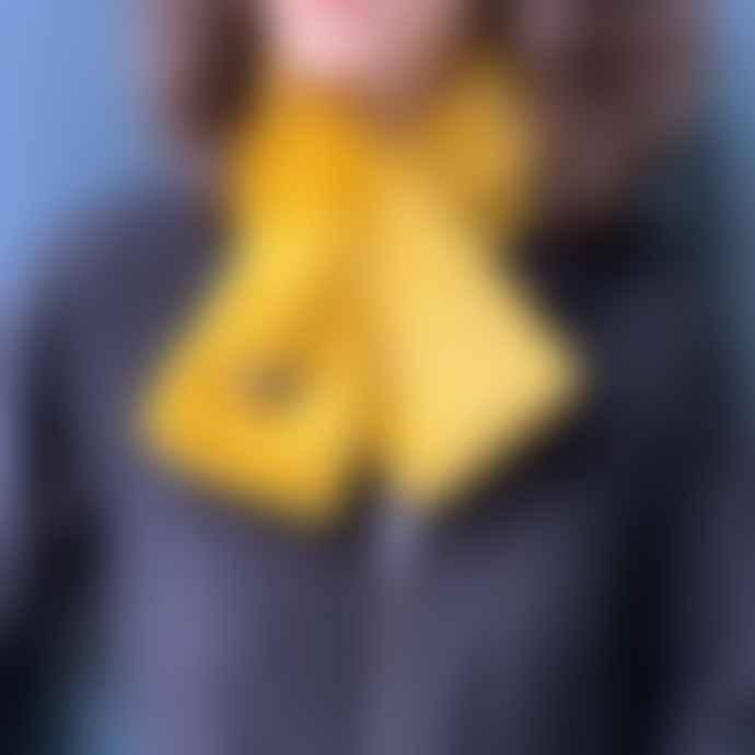SIXTON LONDON Yellow Faux Fur Scarf