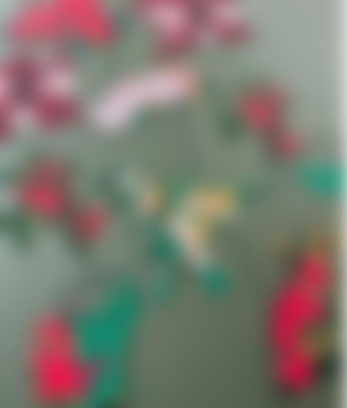 East End Press 3 Metre Long Hand Printed Festive Foliage Garland