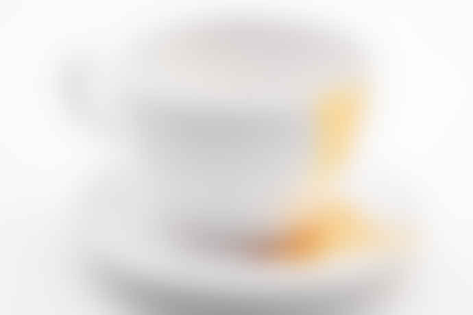 Fasano Ceramiche Ceramic Tea Cup And Plate W Gold Enza Fasano Ceramiche