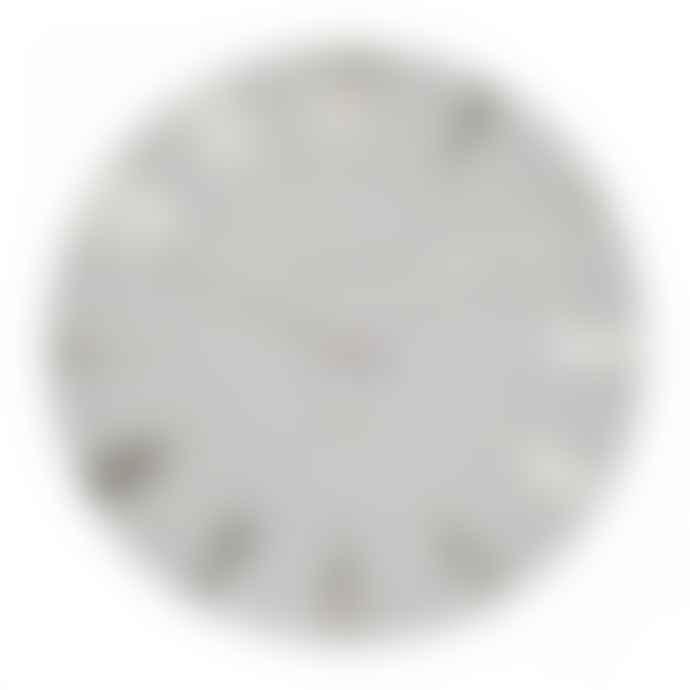 Thomas Kent 20inch Silver Cloud Wall Clock