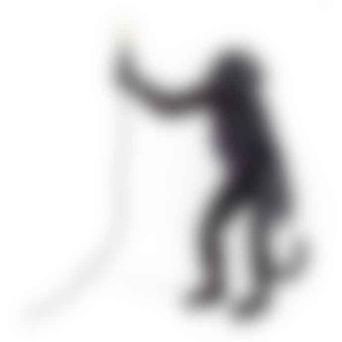 Seletti Black Monkey Resin Foot Lamp