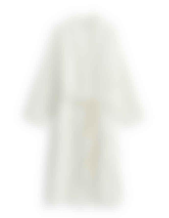 AB Småland Crispy White Organic Combed Cotton Waffle Bathrobe