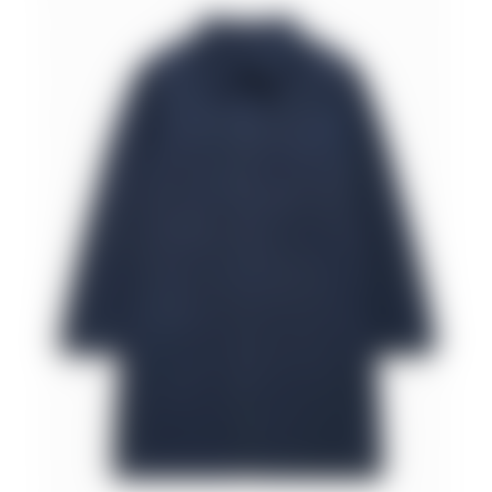 CLOSED Navy Blue Waxed Cotton Long Trench Coat