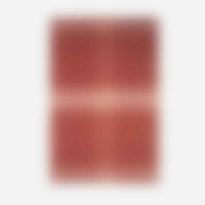 Elvang Vulcanic Throw Blanket Made of Alpaca Wool - Rusty Red