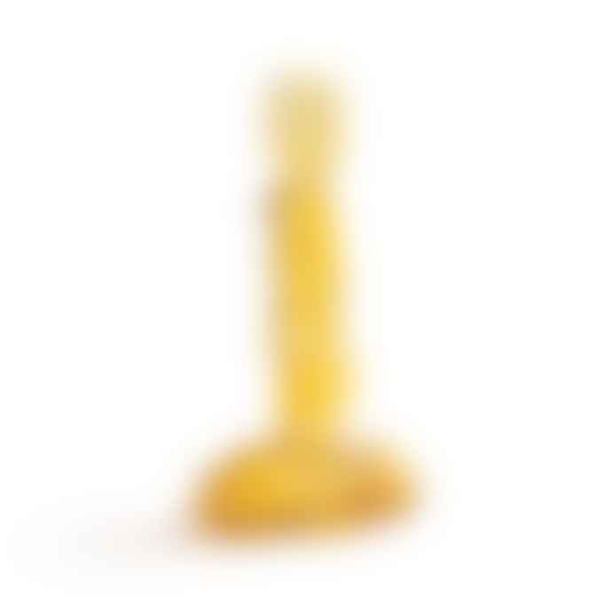 &klevering Yellow Clay Glass Candle Holder