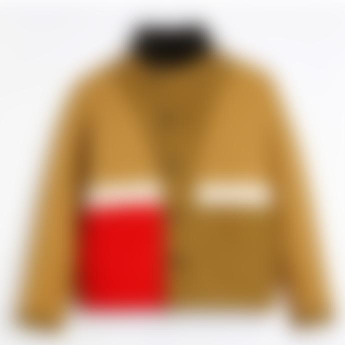 Homecore Brown and Yellow Swit Shetland Reversible Coat