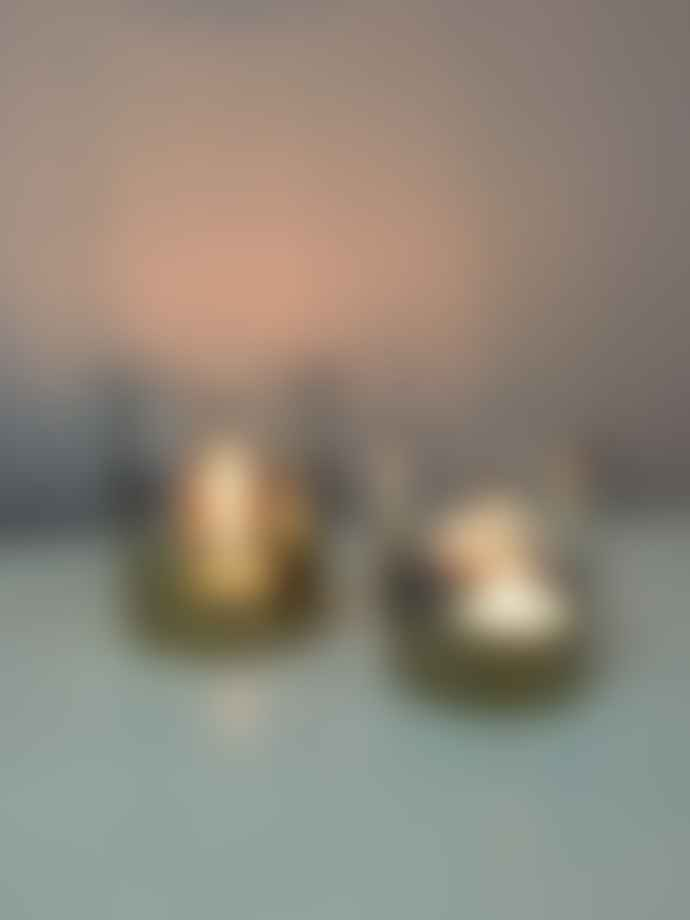 Bloomingville Set of 2 Gold Glass Votives