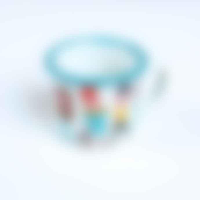 Omm Design Retro Styled Enamel Mug For Music Lovers