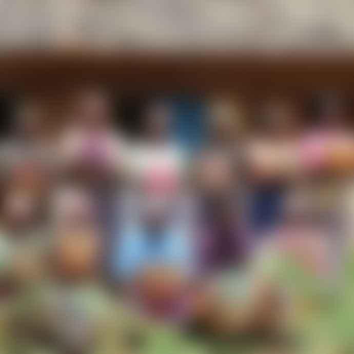 Artisans & Adventurers Kenyan Sisal Medium Basket Orange Stripes
