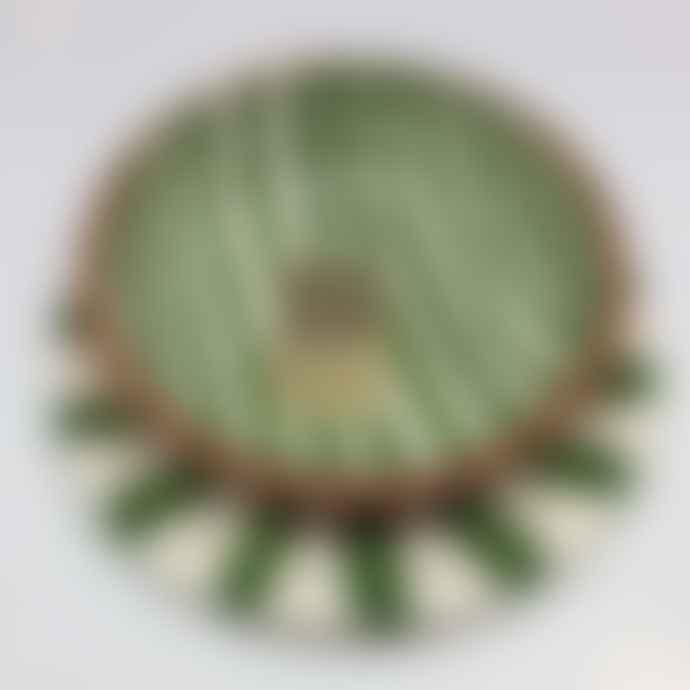 Casa Cubista Mini Ceramic Plate - Green