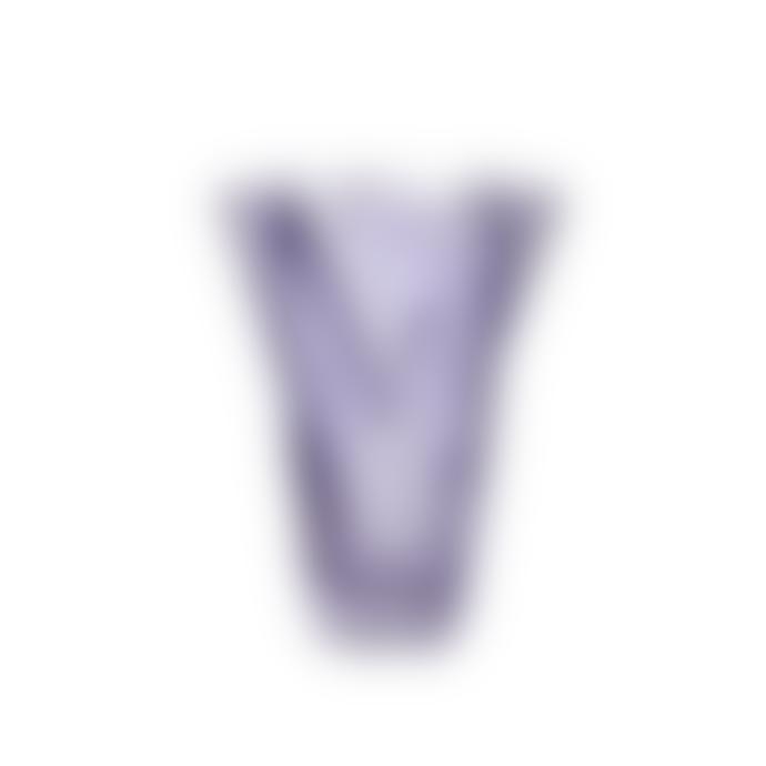 Hubsch Purple Wavy Glass Vase