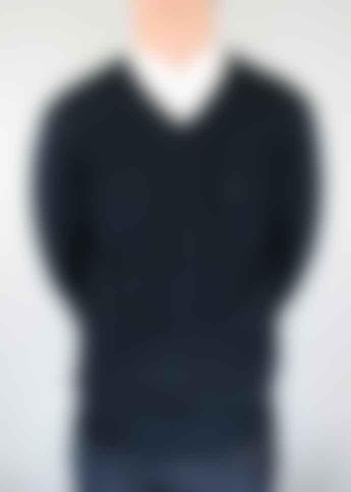 Gabicci Vintage Navy Brandon Knitted V Neck Jumper