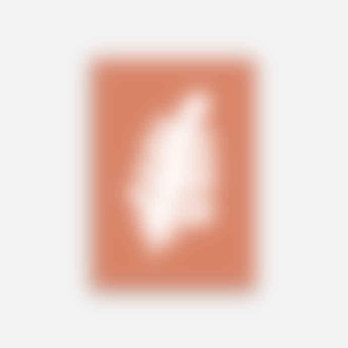 Shandor A3 Terracotta Leaf Poster