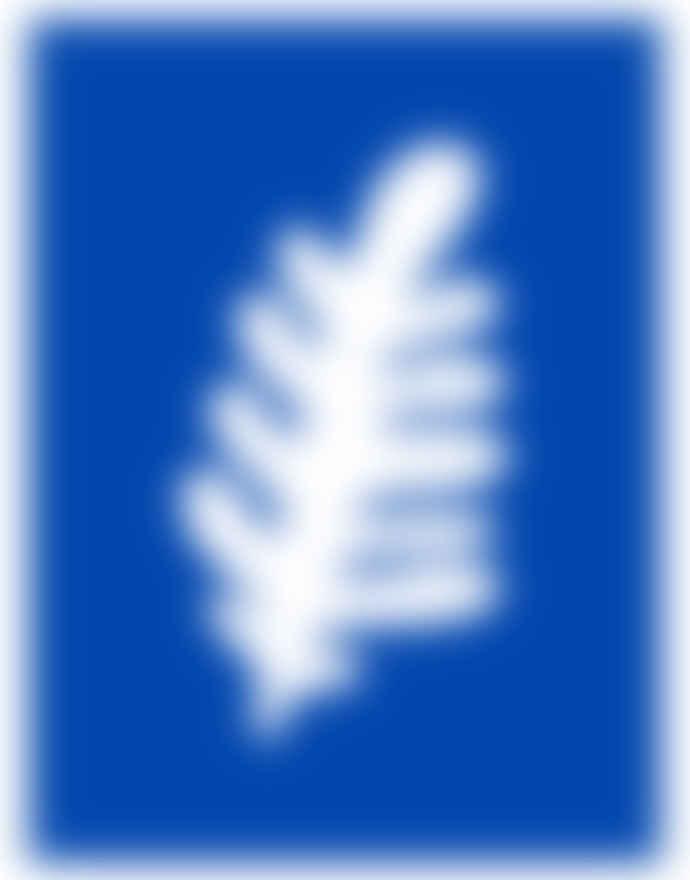 Shandor A3 Blue Leaf Poster