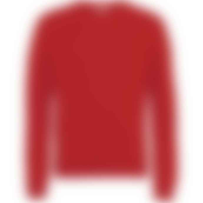 Colorful Standard Light Merino Wool Crew Scarlet Red