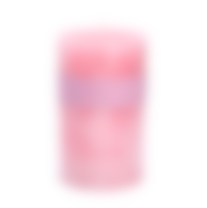 Gisela Graham Pillar Candle 15 Cm Pink Rose