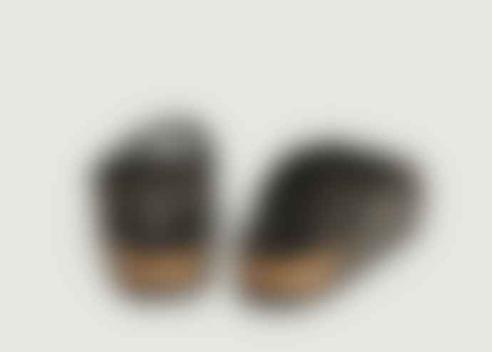 Birkenstock Black and Glittery Arizona Sandals