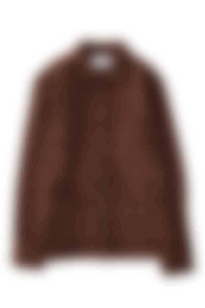 Corridor Brown Plaid Shetland Wool Jacket